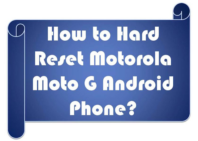 How to factory reset a motorola phone