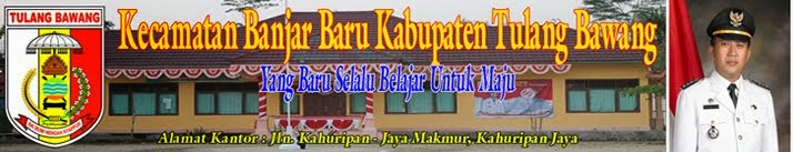 Kecamatan Banjar Baru Kabupaten Tulang Bawang