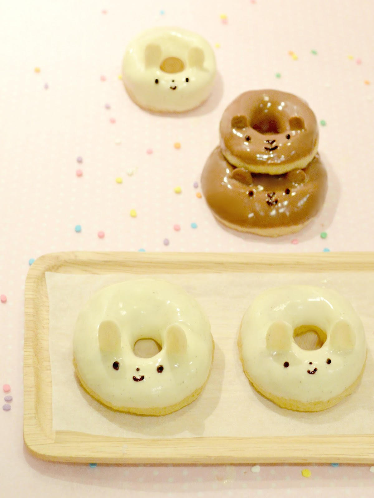 Cherie Kelly's Bear and Rabbit Animal Baked Doughnuts (Not Fried)