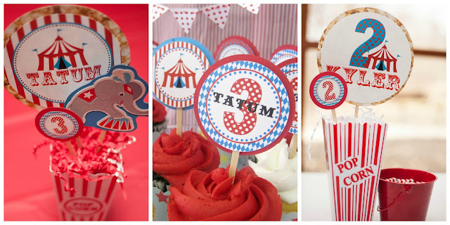 Carnival birthday party dimple prints