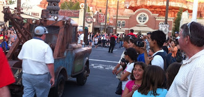 Mater drives through Radiator Springs in Cars Land