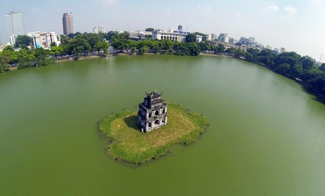 Turtle Tower in Hanoi Vietnam