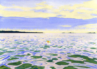 """Summer Water"" - Watercolor By Paul Sherman"
