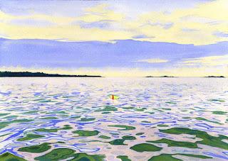 """Summer Water"" - Watercolor By Paul Sherman"