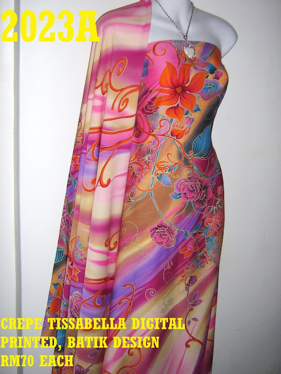 CTD 2023A: BATIK CREPE TISSABELLA DIGITAL PRINTED, EXCLUSIVE DESIGN, 4 METER