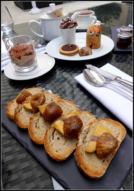 Foie gras et thé gourmand Trianon Palace Versailles