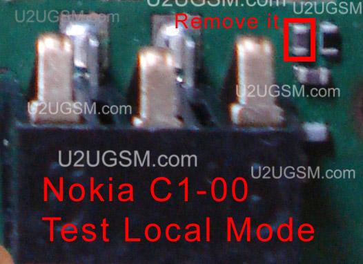 Nokia C1-00 test mode local mode problem solution found.