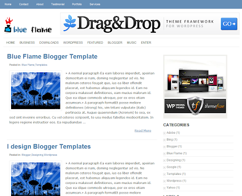 Blue Flame Blogger Theme
