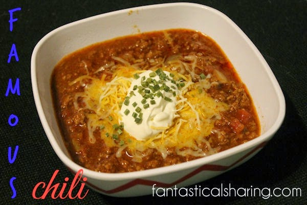 Your friends and family will rave about your fabulous chili when you make this Famous Chili #beef #chili #recipe