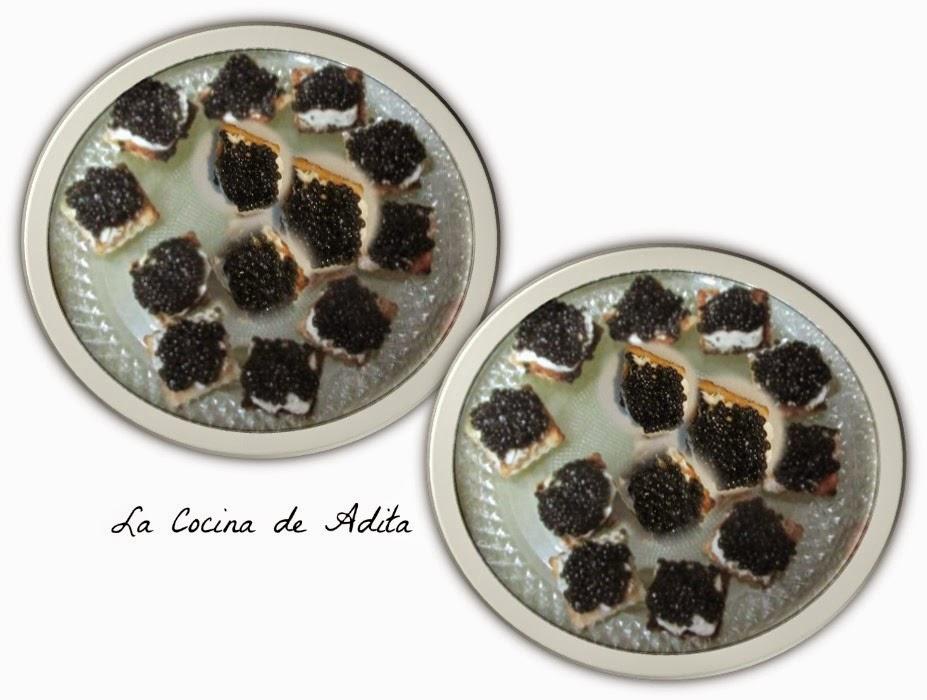 Canap s de caviar la cocina de adita for Canape de caviar