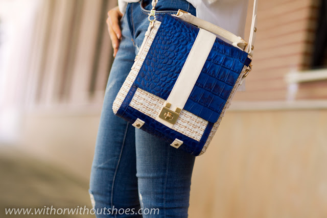 BLUE, WHITE and NUDE BAG by JOAQUIM FERRER