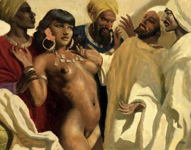 D.W.C. Oriental Woman - Painter Marcel René Herrfeldt