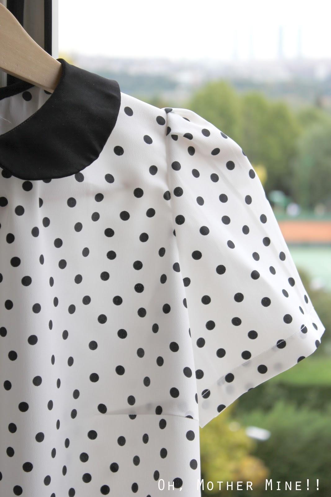 Cómo hacer camiseta de lunares o dots y cuello Peter Pan | Manualidades