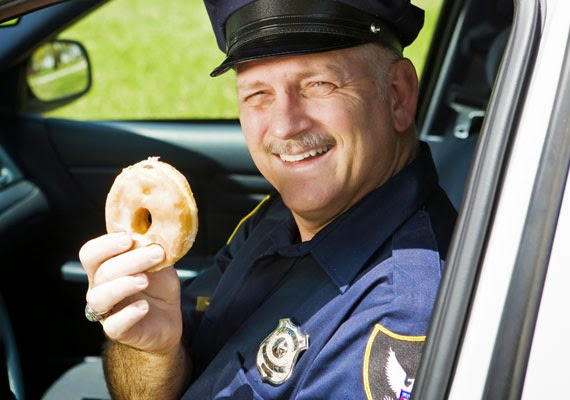 happy cop donut