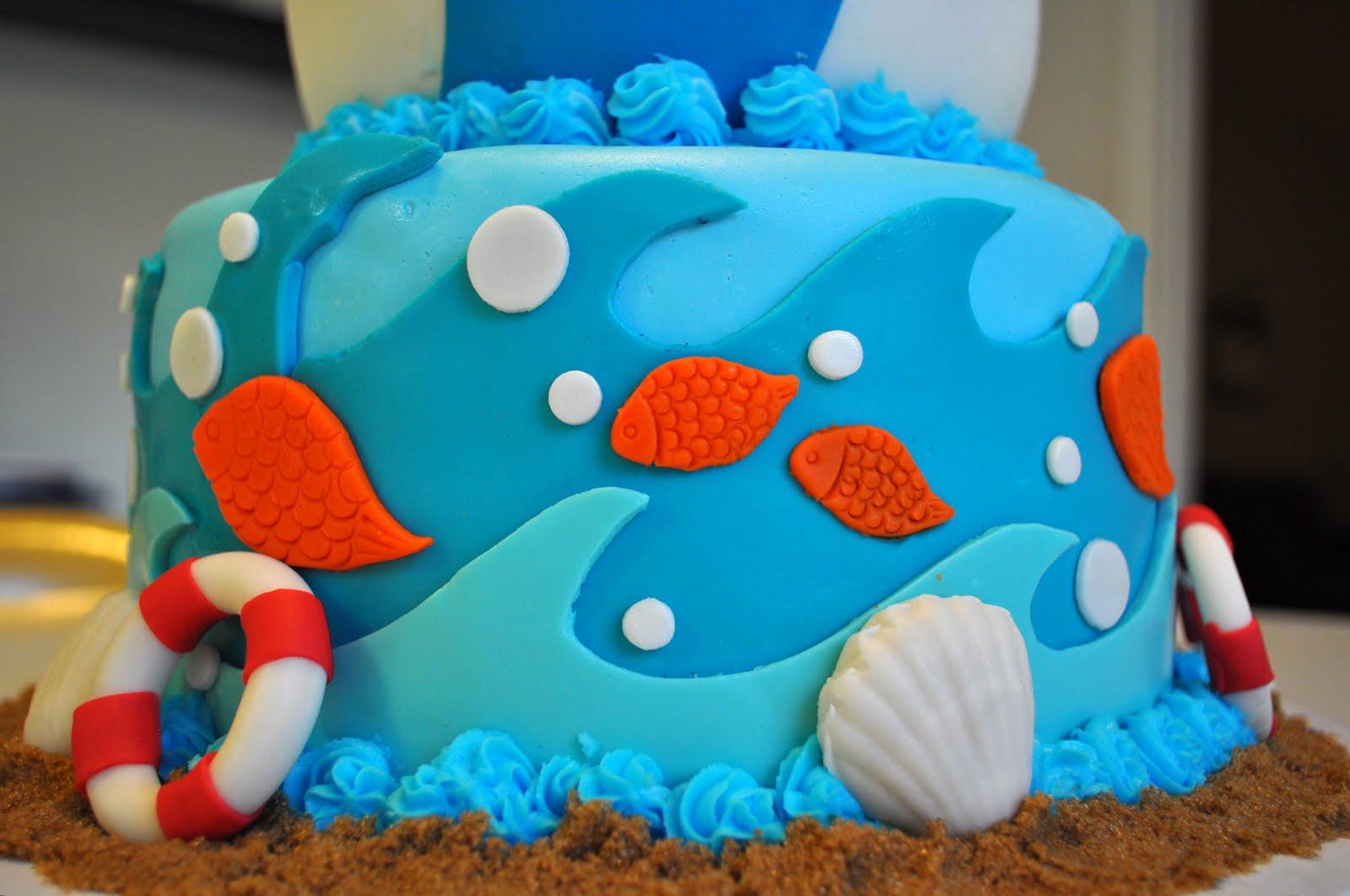 Beach Birthday Cakes Pictures Beach Theme 70th Birthday Cake