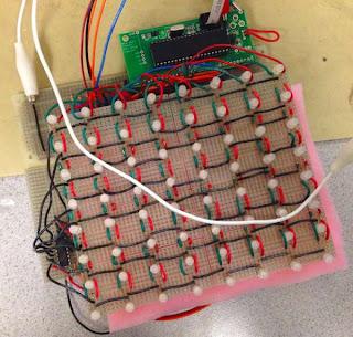 Touch screem e matriz de LEDs