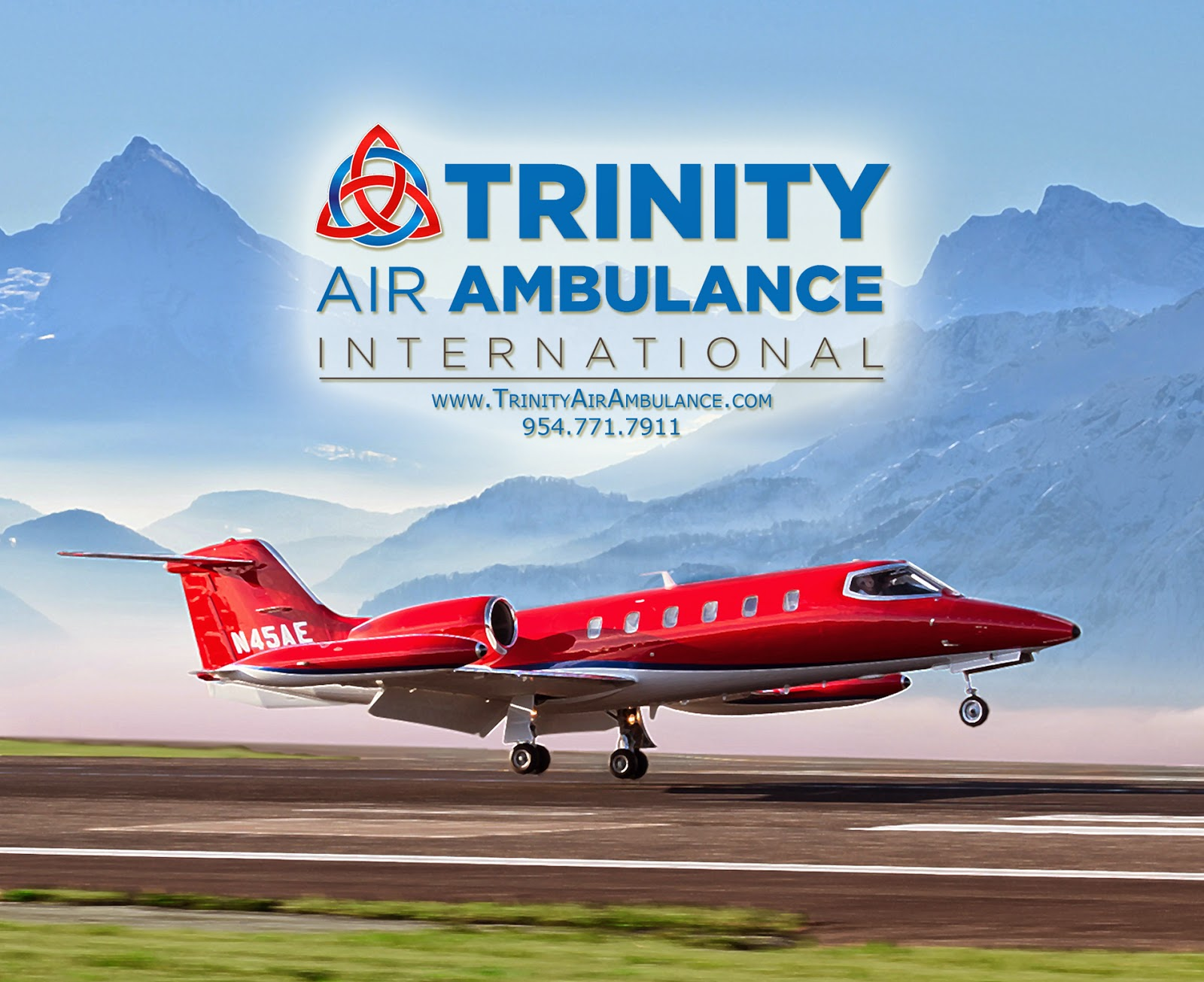 Trinity Air Ambulance N45AE Landing