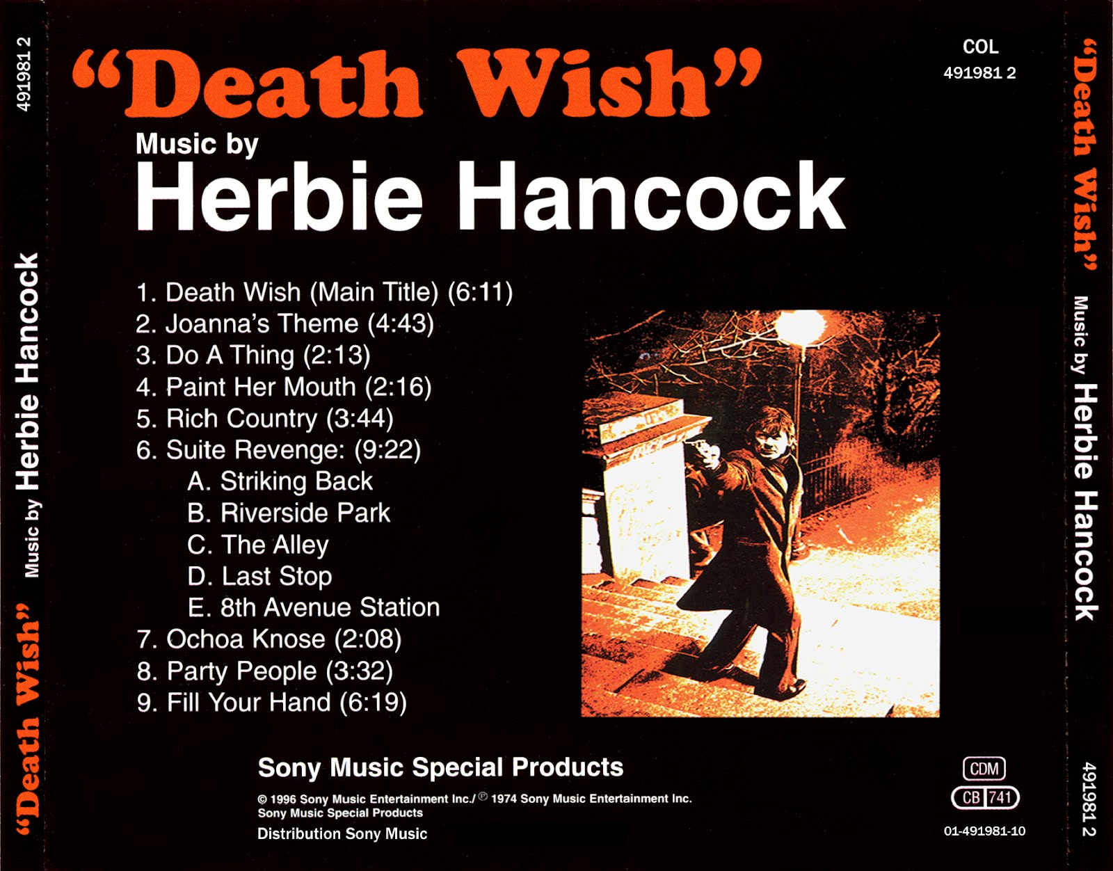 Herbie Hancock Death Wish Original Motion Picture Soundtrack