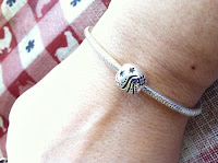 chamilia braclet with believe bead