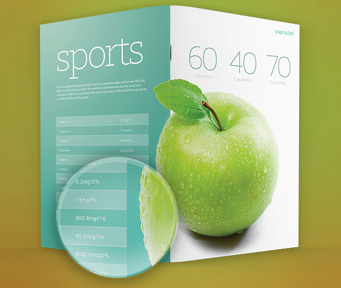 download contoh brosur print templates brochure template psd 2