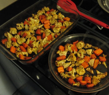 roasted cauliflower and carrot
