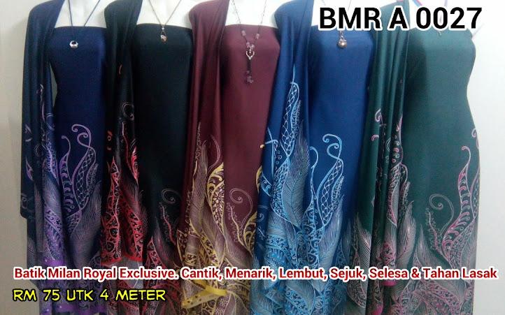 BMR A 0027B:  BATIK MILAN ROYAL EXCLUSIVE, CANTIK, MENARIK, LEMBUT, SEJUK, SELESA, TAHAN LASAK