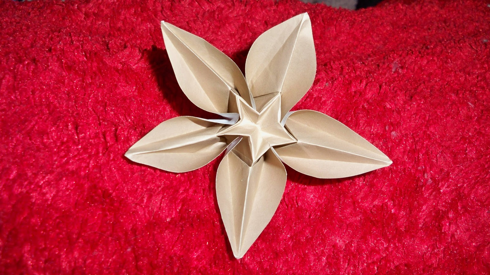 Paperbelle origami origami pieces carambola flower 15cm square paper mightylinksfo
