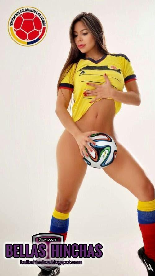Resultado de imagen para colombianas bellas hinchas de su seleccion de futbol