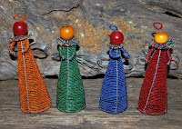 masaai beaded cone angels handcrafted