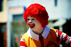 Ronald McDonald by sfxeric via Flickr and a Creative commons license