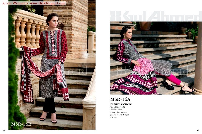 Gul Ahmed Printed Cambric for Mid-Summer-14