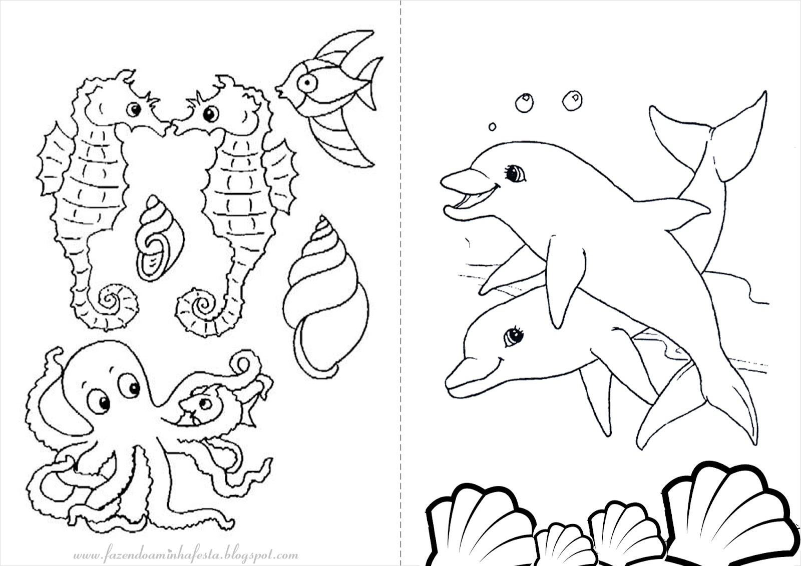 Desenhos para Pintar e Colorir