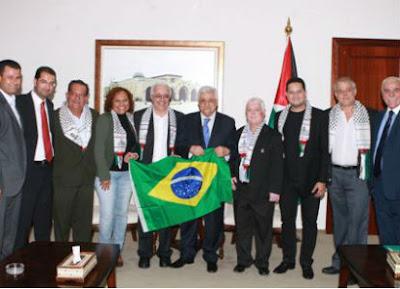 Presidente Mahmud Abbas recebe delegação brasileira