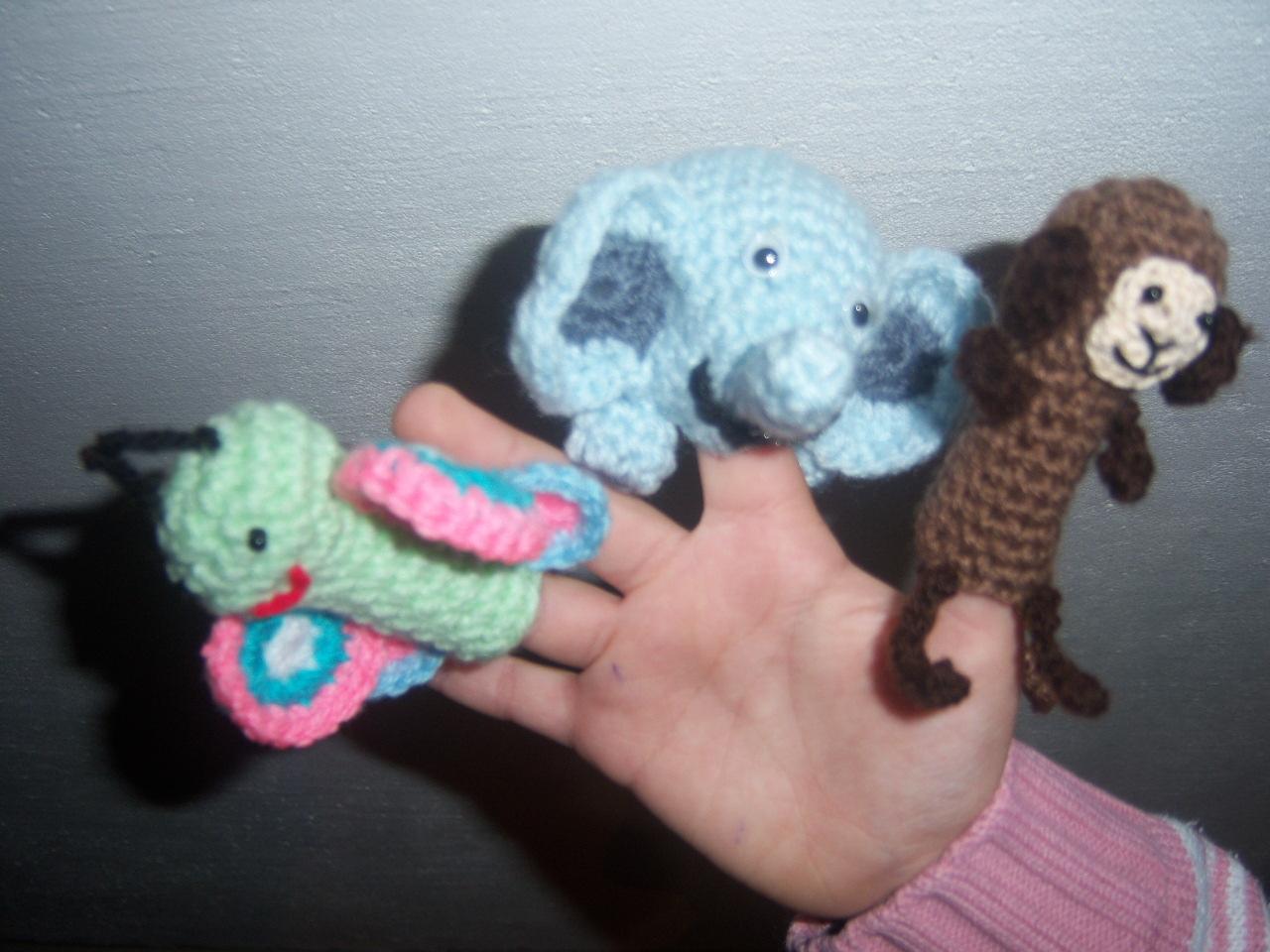 Vistoso Crochet Patrón Del Dedo Marioneta Molde - Ideas de Patrones ...