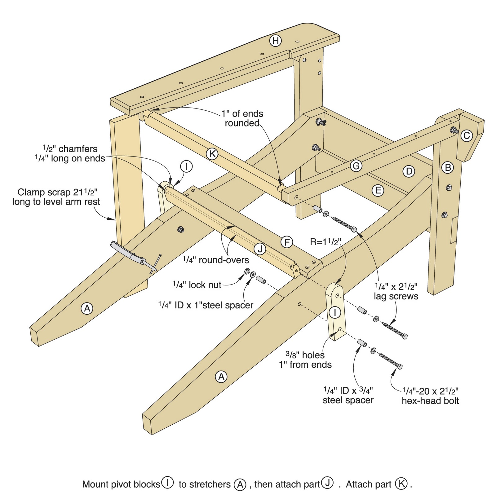 adirondack chair plans youtube