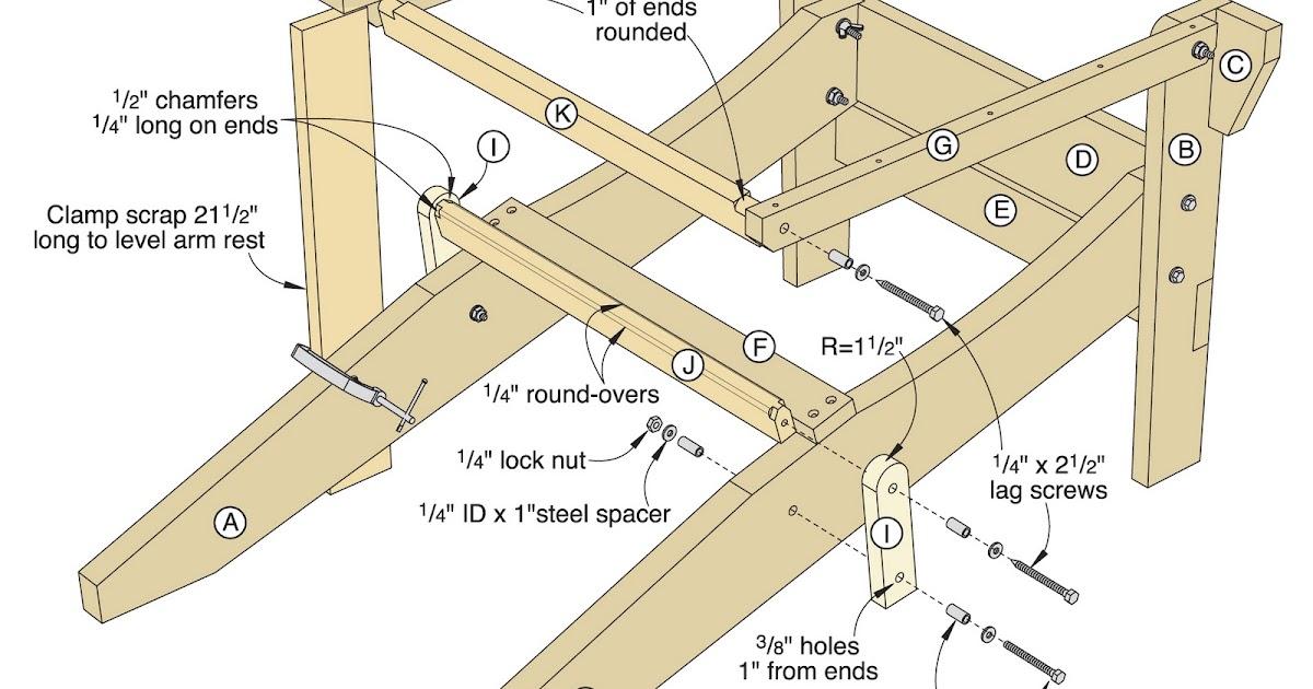adirondack chair plans folding free wooden furniture making tutorial