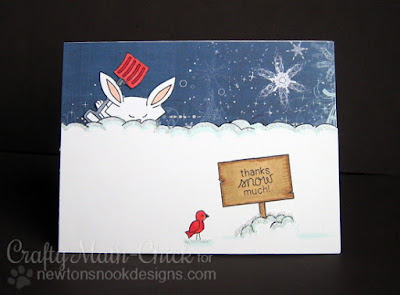 Blizzard Thank You Card by Crafty Math Chick | Winter Tails by Newton's Nook Designs