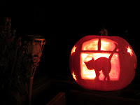 kürbis schnitzen halloween pumpkin deko herbst cat