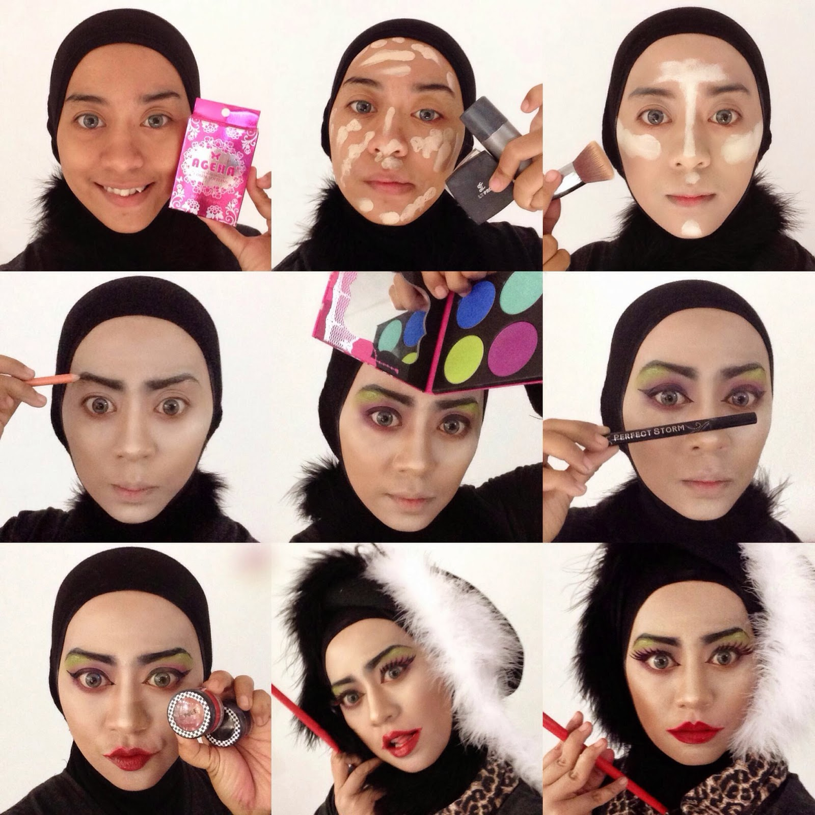 Ini Vindy Yang Ajaib Cruella De Vil Makeup Tutorial