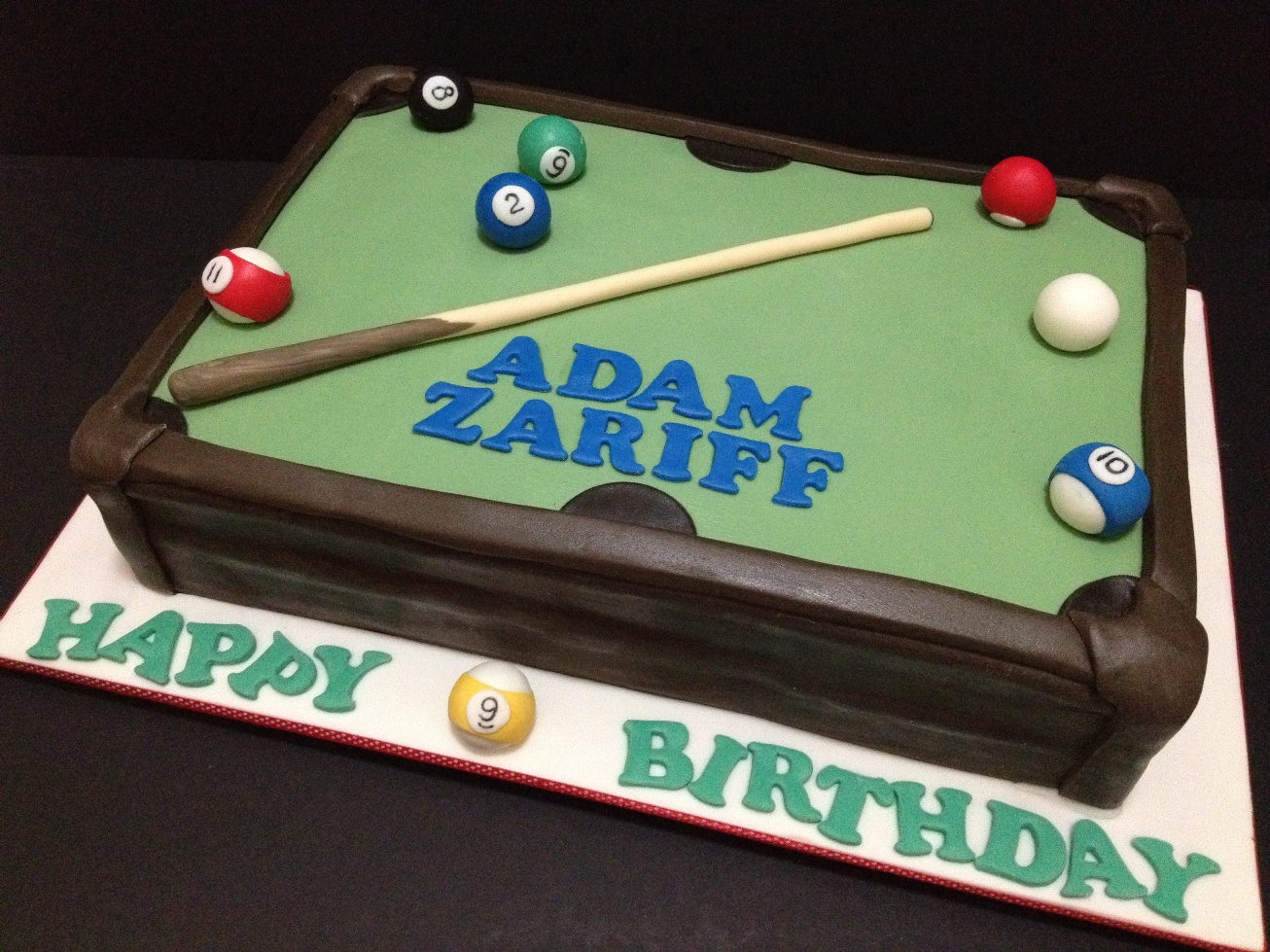 Liez Cakes And Etc Pool Table Cake