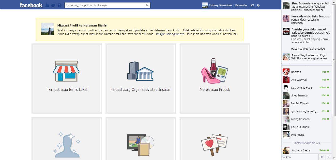 Cara Merubah Akun Facebook Menjadi Fp, Fans Page, Halaman