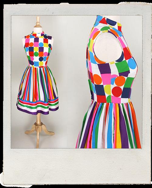 1960s Mod Skater Dress www.vintagelovebygigi.com