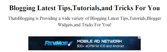 Add AdSense Ads To Blogger Header