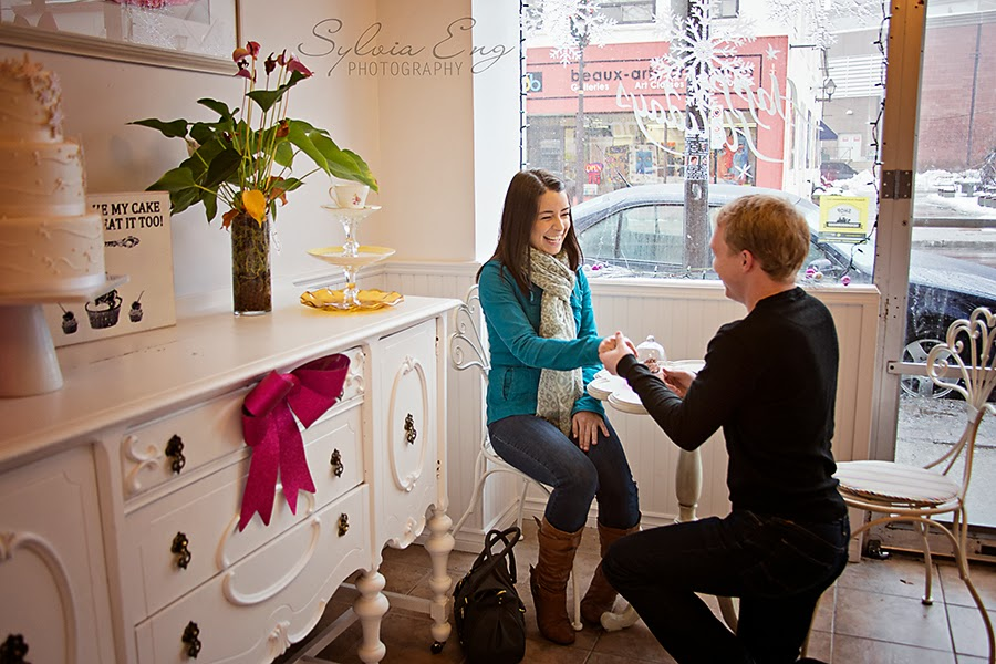 surprise proposal, brampton ontario photographer, paparazzi photos, engagement photos, proposal planner, winter engagement