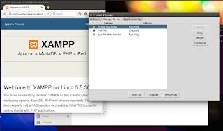 xampp ubuntu sudah berjalan