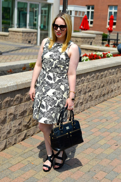 black-white-floral-dress
