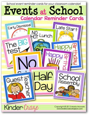 FREE calendar reminder cards