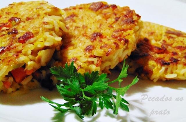 Receita de bolinhos de arroz com atum