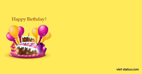 Status chúc mừng sinh nhật - mẫu 3
