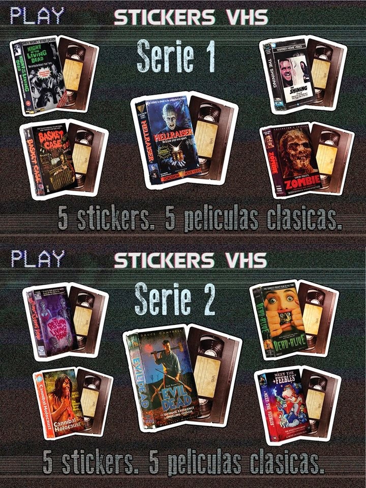 stickers vhs
